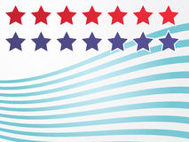 Stars and stripes illustration Stock Photography