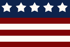 Stars and Stripes Illustration royalty free stock photos