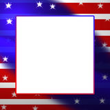 Stars and Stripes Illustration (Text Area) Royalty Free Stock Photo