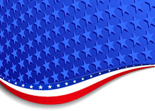 Stars and Stripes Landscape royalty free illustration