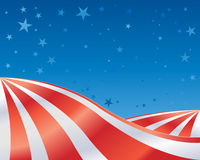Stars and stripes landscape Stock Images