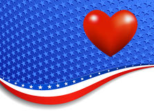 Stars and Stripes Landscape Heart Royalty Free Stock Photo