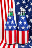 Stars and Stripes. A pair of bottles decorated with the stars and stripes Royalty Free Stock Images
