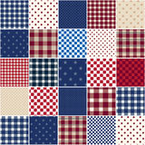 Plaid Stars Patchwork Quilt Stock Images