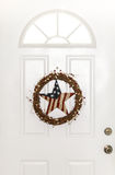 Stars and Stripes Patriotic Country Door Wreath Royalty Free Stock Photo
