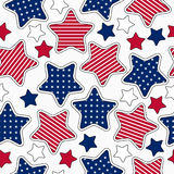 Stars and stripes pattern vector illustration