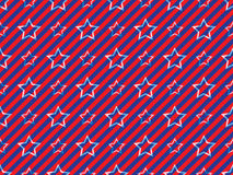 Stars and stripes pattern. Abstract seamless stars and stripes pattern Stock Images