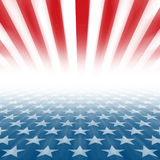 Stars and Stripes perspective background Stock Photo
