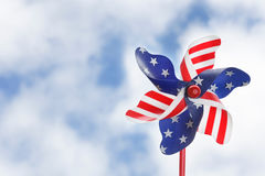 Stars & stripes pinwheel Royalty Free Stock Photos