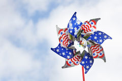 Stars & stripes pinwheel Royalty Free Stock Images