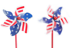 Stars & stripes pinwheels Royalty Free Stock Photography