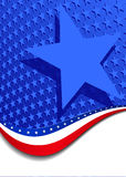Stars and Stripes Portrait with large star Stock Images