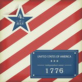 Stars and Stripes in red blue Royalty Free Stock Images