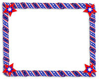 Stars and stripes Ribbons border Royalty Free Stock Photo