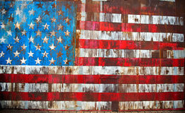 The stars and stripes on rusty metal Royalty Free Stock Images