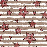 Stars and stripes seamless texture for wraping paper Royalty Free Stock Photography