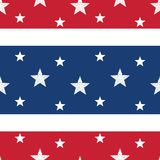 Stars & Stripes Seamless Tile Royalty Free Stock Image