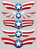 Stars and stripes set Royalty Free Stock Images