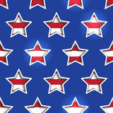 Stars and Stripes Shadowed Background. 4th July Stars and Stripes 3d Cutout Background Royalty Free Stock Photos