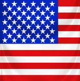 Stars and stripes square draped Royalty Free Stock Photography