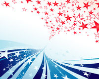 Stars and Stripes streamer Royalty Free Stock Photo