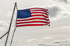 Stars and stripes in sun Stock Photo