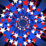 Stars and stripes swirl Royalty Free Stock Photography
