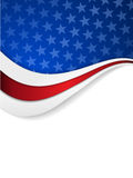 Stars and stripes themed background Stock Image