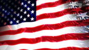 Stars & Stripes USA Flag 3D (Loop) royalty free illustration