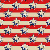 Stars Stripes USA Patriotic Seamless Background. Royalty Free Stock Images