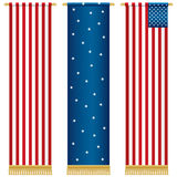 Stars and stripes wall hangings Stock Photo