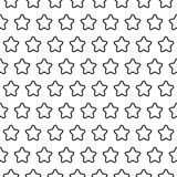 Stars stripped geometric seamless pattern Stock Photography