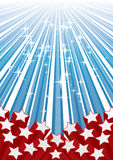 Stars on strips Royalty Free Stock Image