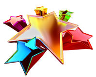 Stars with stylistic distortion of dimensions Stock Images