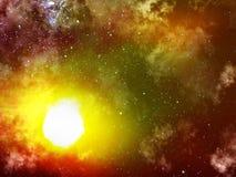 Stars   sun   fog Stock Images