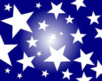 Stars Surprise. Illustration of a background with stars Stock Photography
