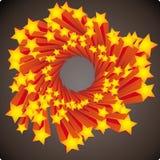 Stars swirl vector illustration