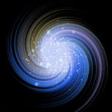 Stars swirl in universe - blue. Beautiful stars swirl in universe - blue Stock Images