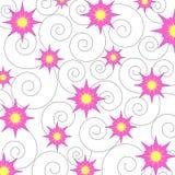 Stars and swirls vector illustration