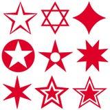 Stars symbol. Closeup of red stars symbol Royalty Free Stock Image