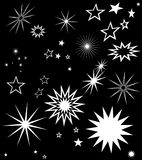 STARS SYMBOLS MONOCHROMATIC COMPOSITION Royalty Free Stock Image