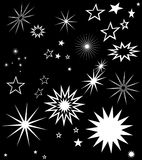 STARS SYMBOLS MONOTONE COMPOSITION/PATTERN Royalty Free Stock Photo