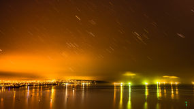 Stars tail at 4am Royalty Free Stock Image