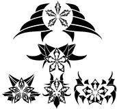 Stars tattoo in black Stock Images