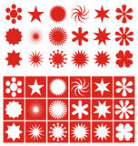 Stars templates + vector file Stock Photography