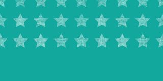 Stars textile textured green horizontal seamless pattern background Royalty Free Stock Image