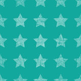 Stars textile textured green seamless pattern background Royalty Free Stock Images