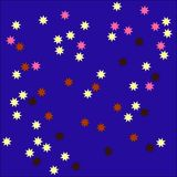 Stars tileable background Royalty Free Stock Image