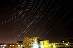 Stars timelapse under the city of Sofia, Bulgaria Royalty Free Stock Photo