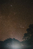 Stars and Trees at Umphang in Tak Province in Northwestern Thailand.  Stock Images